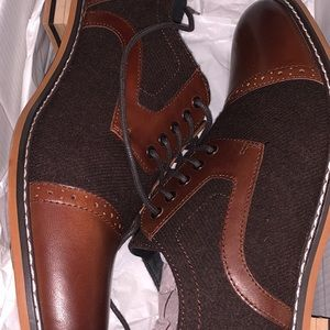 4edf280f3ad4 Bar III Mens Perforated Oxfords Size 10